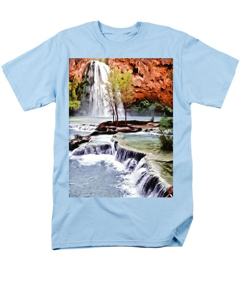 Havasau Falls Painting Men's T-Shirt  (Regular Fit) by Bob and Nadine Johnston