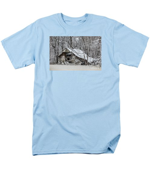 Men's T-Shirt  (Regular Fit) featuring the photograph Hay Barn In Snow by Debbie Green