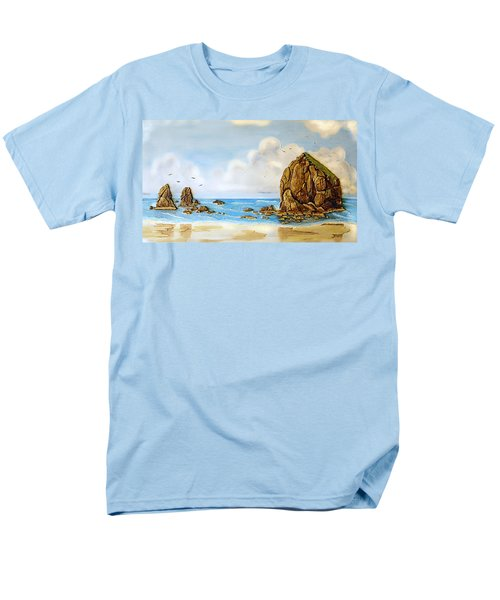 Men's T-Shirt  (Regular Fit) featuring the relief Haystack Relief by Wendy McKennon