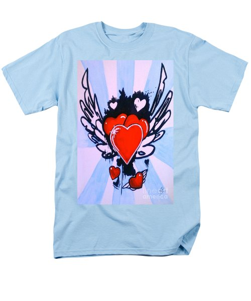 Men's T-Shirt  (Regular Fit) featuring the painting Hearts by Marisela Mungia