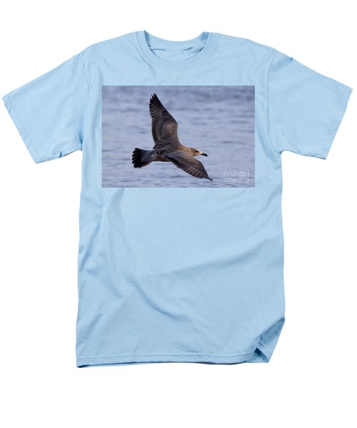 Men's T-Shirt  (Regular Fit) featuring the photograph Herring Gull In Flight Photo by Meg Rousher
