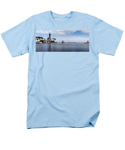 Hillsboro Inlet Lighthouse Panorama Men's T-Shirt  (Regular Fit) by Lynn Palmer