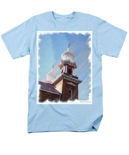 Historic Church Steeples Men's T-Shirt  (Regular Fit) by Bobbee Rickard