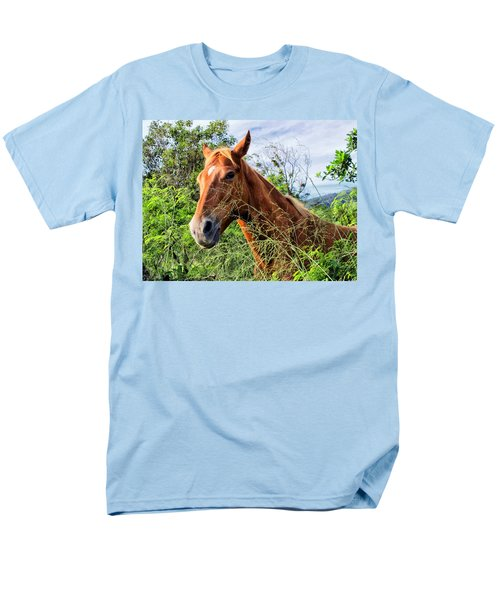 Men's T-Shirt  (Regular Fit) featuring the photograph Horse 1 by Dawn Eshelman