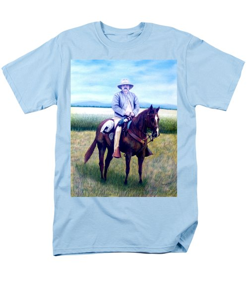 Horse And Rider Men's T-Shirt  (Regular Fit) by Stacy C Bottoms