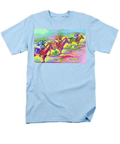 Horse Race  Three Men's T-Shirt  (Regular Fit) by Mary Armstrong