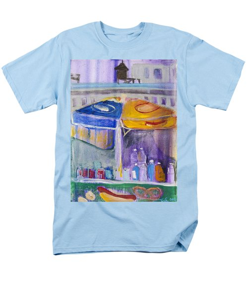 Hot Dogs  Men's T-Shirt  (Regular Fit) by Leela Payne