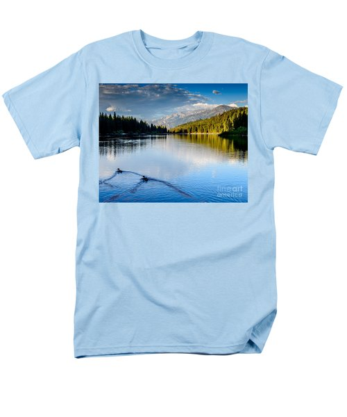 Hume Lake Evening Men's T-Shirt  (Regular Fit) by Terry Garvin