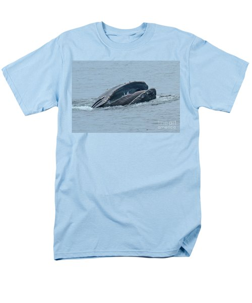 Men's T-Shirt  (Regular Fit) featuring the photograph Humpback Whale  Lunge Feeding Monterey Bay 2013 by California Views Mr Pat Hathaway Archives
