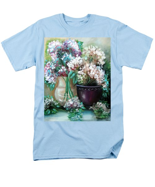 Men's T-Shirt  (Regular Fit) featuring the painting Hydrangea Melody by Patrice Torrillo
