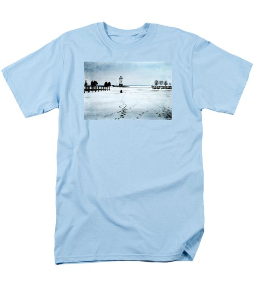 Men's T-Shirt  (Regular Fit) featuring the photograph Ice Fishing Solitude 2 by Janice Adomeit