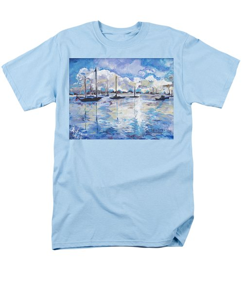 In Search For America's Freedom Men's T-Shirt  (Regular Fit) by Helena Bebirian