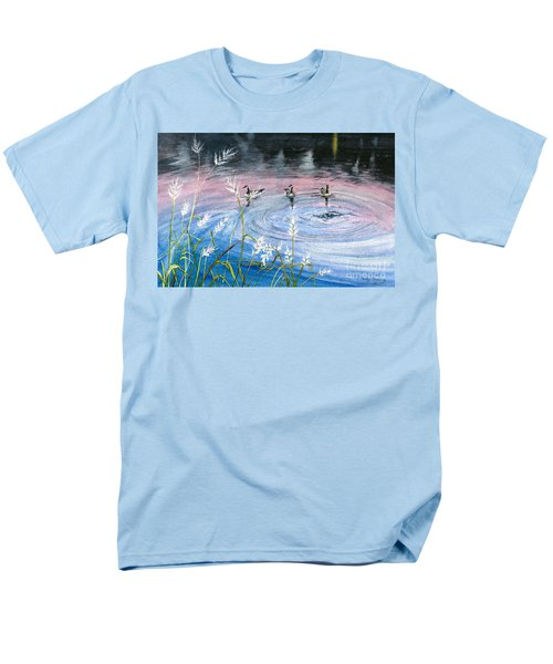 Men's T-Shirt  (Regular Fit) featuring the painting In The Dusk by Melly Terpening