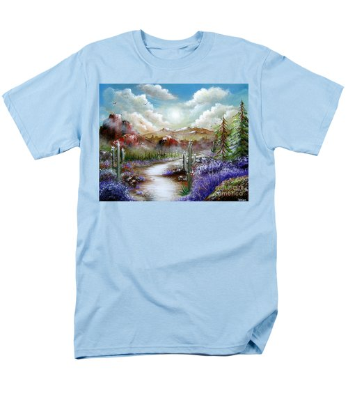 Men's T-Shirt  (Regular Fit) featuring the painting Indian Gin And Whiskey Dry by Patrice Torrillo