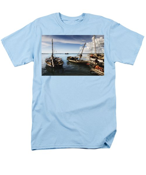 Indian Ocean Dhow At Stone Town Port Men's T-Shirt  (Regular Fit) by Amyn Nasser
