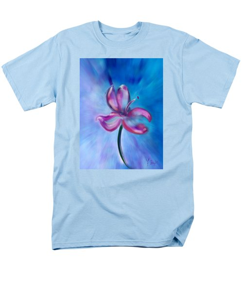 Men's T-Shirt  (Regular Fit) featuring the digital art Iris In Pastel by Frank Bright