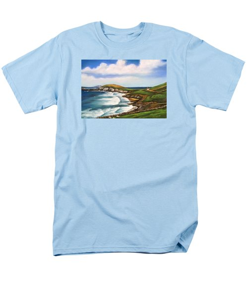 Dingle Peninsula Irish Coastline Men's T-Shirt  (Regular Fit) by Melinda Saminski