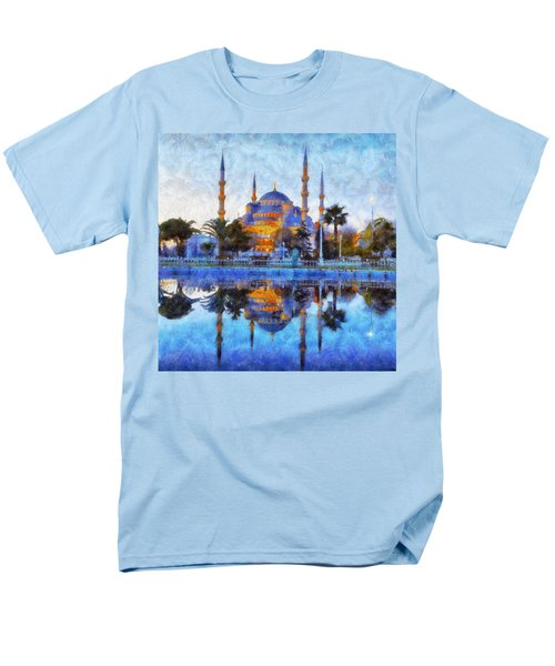 Istanbul Blue Mosque  Men's T-Shirt  (Regular Fit) by Lilia D