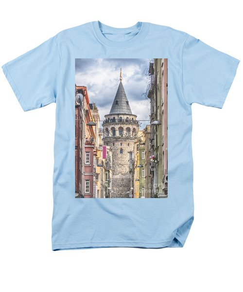 Istanbul Galata Tower Men's T-Shirt  (Regular Fit) by Antony McAulay