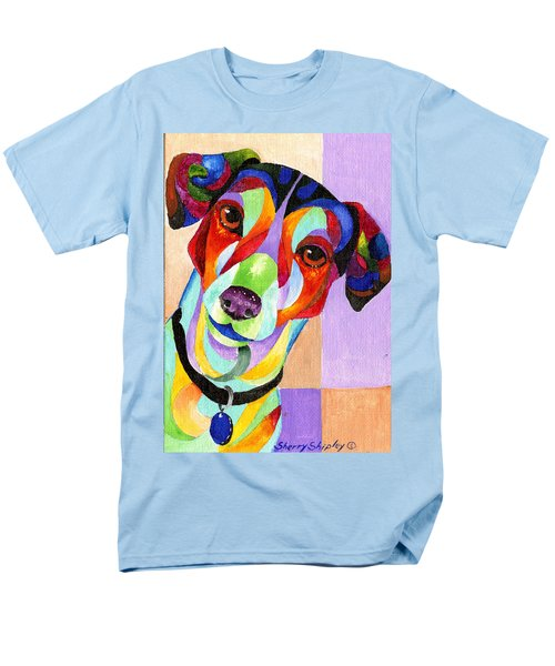 Jack Russell Terrier Men's T-Shirt  (Regular Fit) by Sherry Shipley