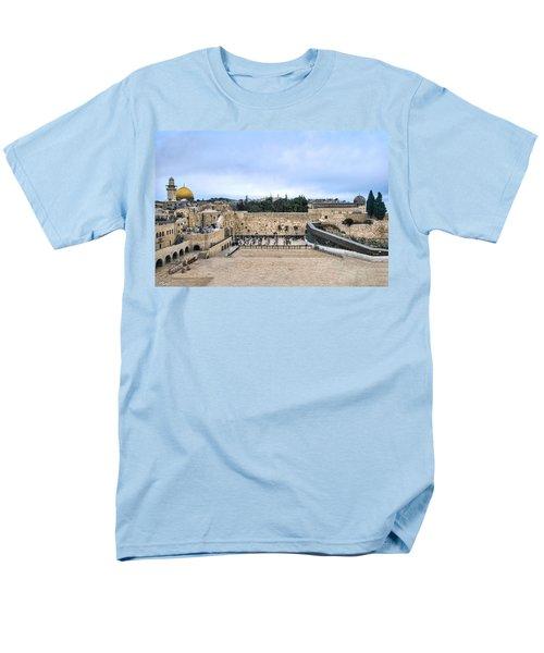 Jerusalem The Western Wall Men's T-Shirt  (Regular Fit) by Ron Shoshani