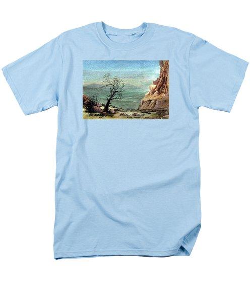Men's T-Shirt  (Regular Fit) featuring the painting Jordanian Valley by Mikhail Savchenko
