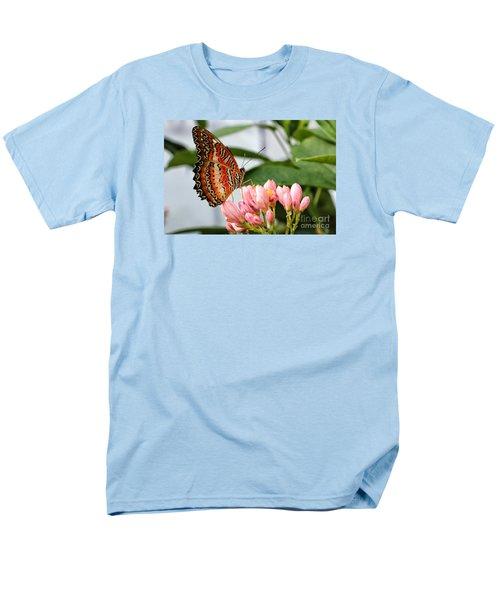 Just Pink Butterfly Men's T-Shirt  (Regular Fit) by Shari Nees