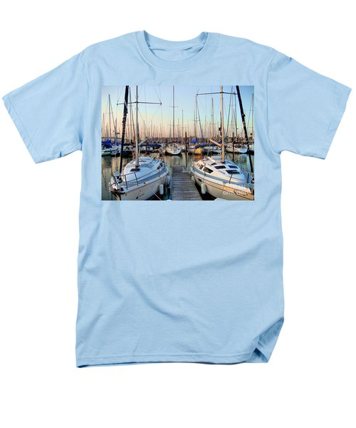 Kemah Boardwalk Marina Men's T-Shirt  (Regular Fit) by Savannah Gibbs