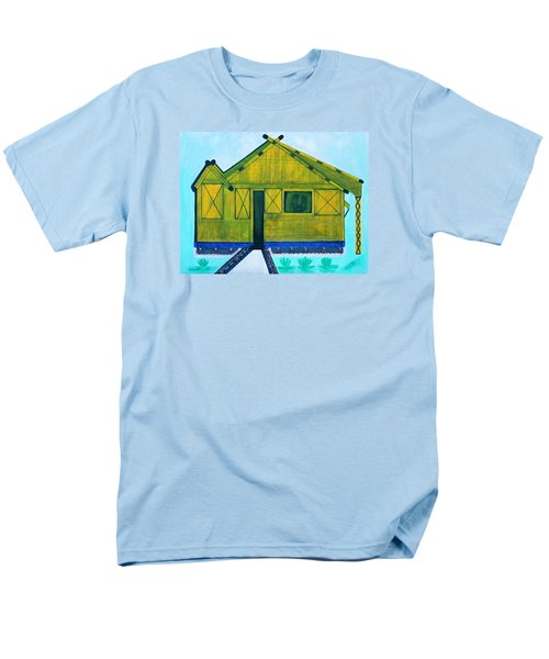 Men's T-Shirt  (Regular Fit) featuring the painting Kiddie House by Lorna Maza