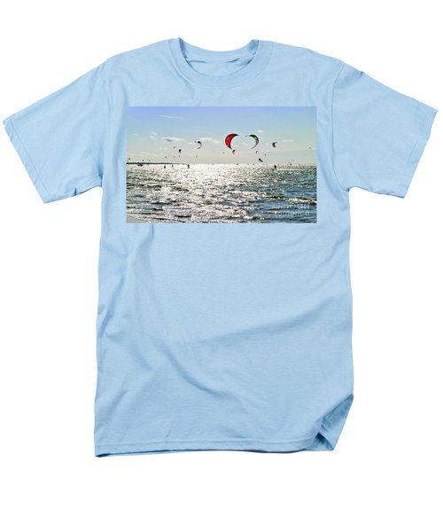 Men's T-Shirt  (Regular Fit) featuring the photograph Kitesurfing In The Sun by Maja Sokolowska
