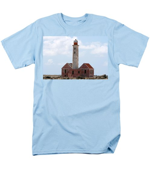 Klein Curacao Lighthouse Men's T-Shirt  (Regular Fit) by David Millenheft
