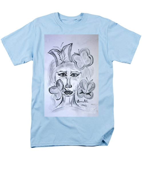 Men's T-Shirt  (Regular Fit) featuring the drawing Lady Queen Of Butterflies by Ramona Matei