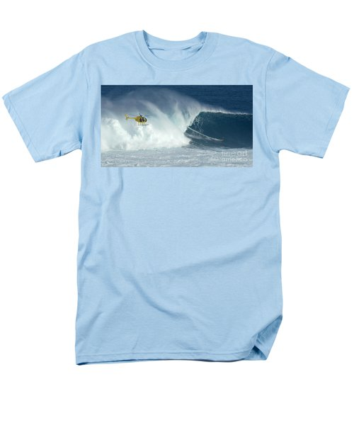 Laird Hamilton Going Left At Jaws Men's T-Shirt  (Regular Fit) by Bob Christopher