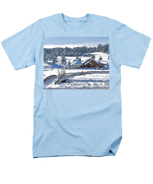 Lake House In Snow Men's T-Shirt  (Regular Fit) by Ron White