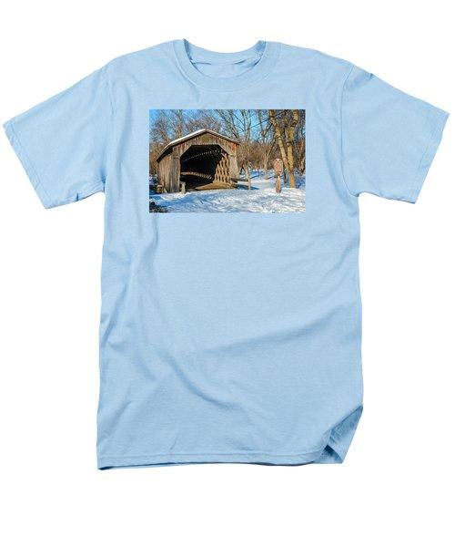 Last Covered Bridge Men's T-Shirt  (Regular Fit) by Susan  McMenamin
