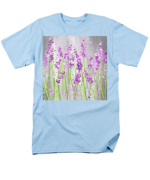 Lavender Blossoms - Lavender Field Painting Men's T-Shirt  (Regular Fit) by Lourry Legarde