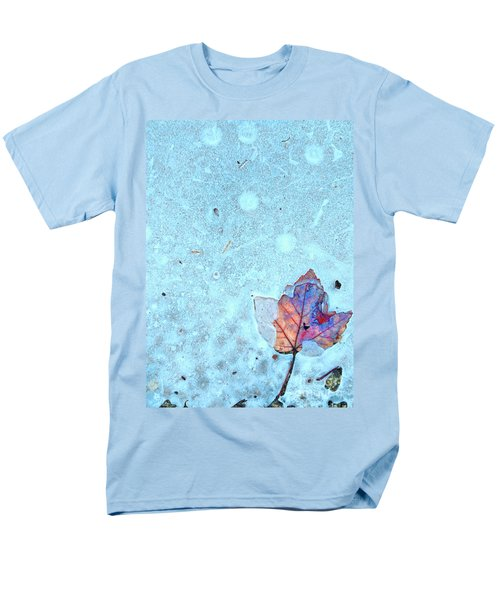 Leaf In Ice Men's T-Shirt  (Regular Fit) by Todd Breitling