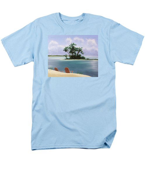 Let's Swim Out To The Island Men's T-Shirt  (Regular Fit) by Jack Malloch