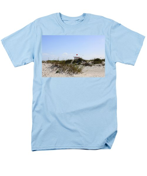 Men's T-Shirt  (Regular Fit) featuring the photograph Lifeguard Station by Chris Thomas