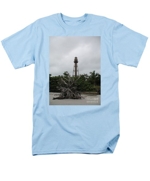 Lighthouse On Sanibel Island Men's T-Shirt  (Regular Fit) by Christiane Schulze Art And Photography