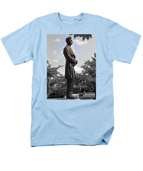 Lincoln At Lytle Park Men's T-Shirt  (Regular Fit) by Kathy Barney