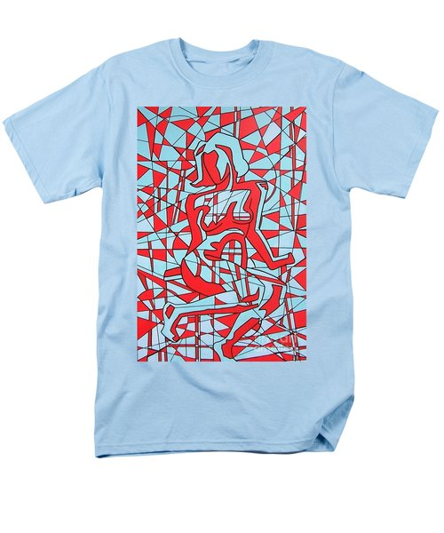 Lined Girl Men's T-Shirt  (Regular Fit) by Thomas Valentine