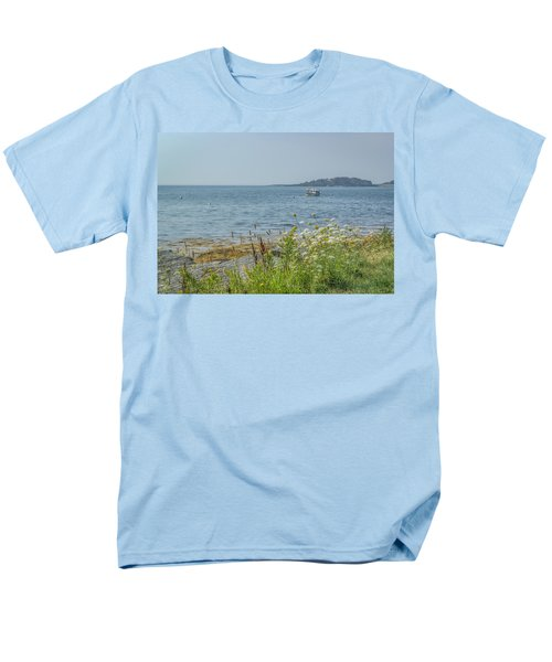 Men's T-Shirt  (Regular Fit) featuring the photograph Lobster Boat At Rest by Jane Luxton