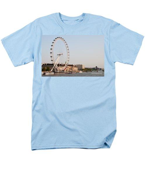Men's T-Shirt  (Regular Fit) featuring the photograph London Eye Day by Matt Malloy