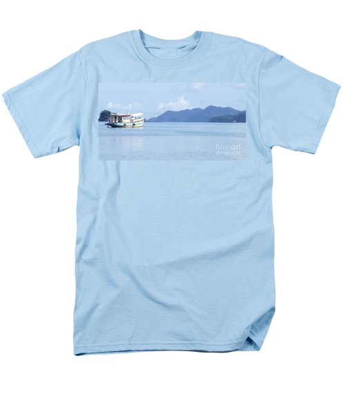 Lonely Boat Men's T-Shirt  (Regular Fit) by Andrea Anderegg