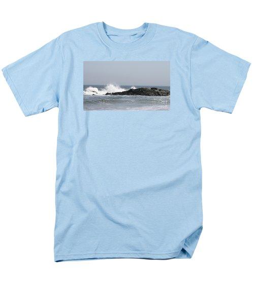 Long Beach Jetty Men's T-Shirt  (Regular Fit) by John Telfer