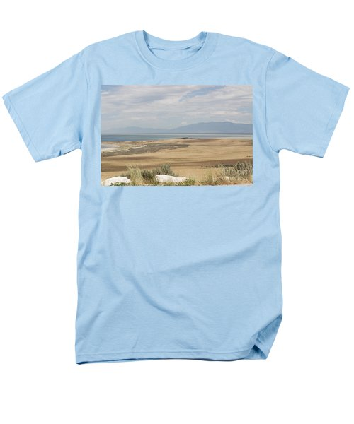 Men's T-Shirt  (Regular Fit) featuring the photograph Looking North From Antelope Island by Belinda Greb