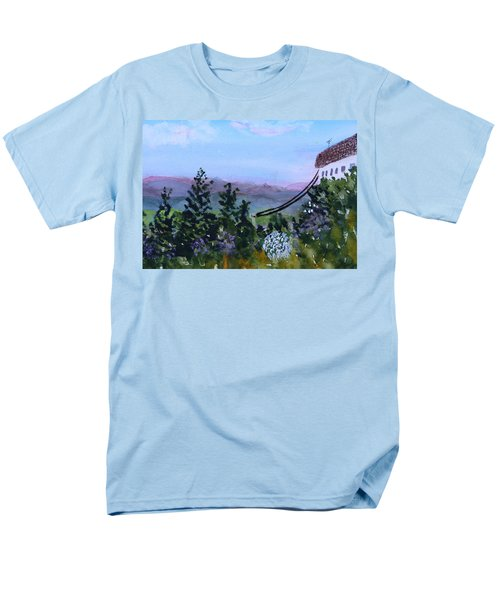 Men's T-Shirt  (Regular Fit) featuring the painting Looking Out From Top Of Jay Peak  by Donna Walsh