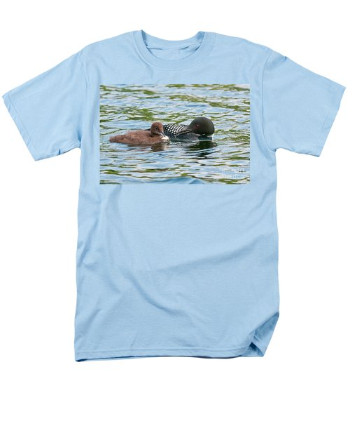 Loon And Baby Men's T-Shirt  (Regular Fit) by Michael Cummings