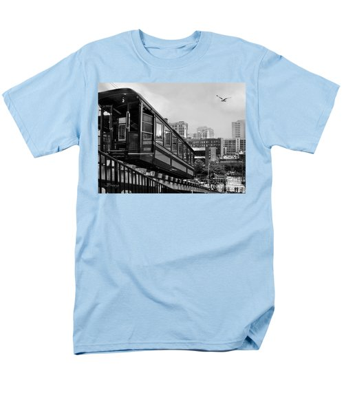 Los Angeles Angels Flight.bw Men's T-Shirt  (Regular Fit) by Jennie Breeze
